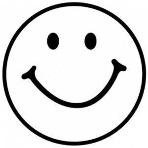 happy face black