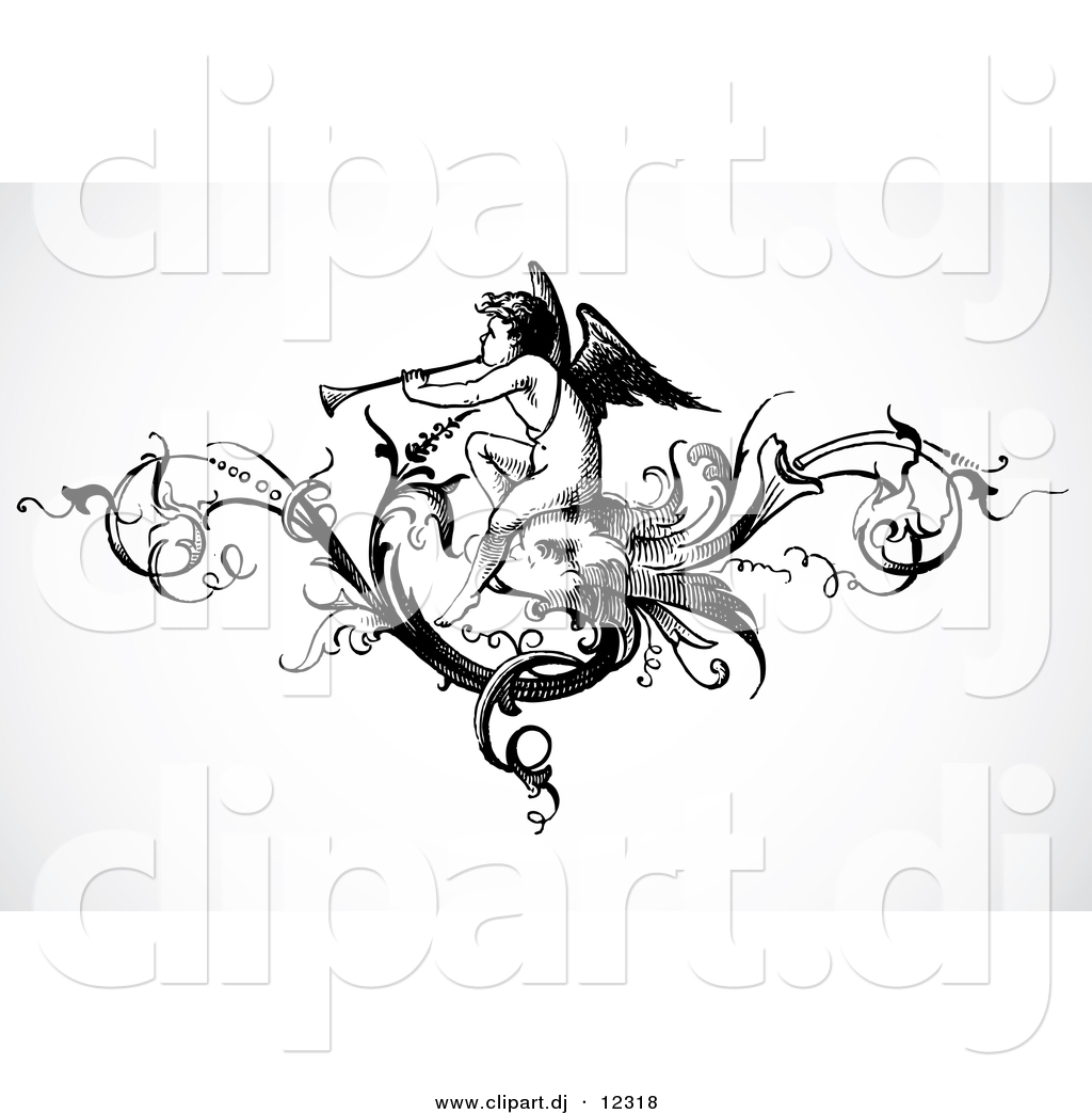Trumpet Clip Art Black And White