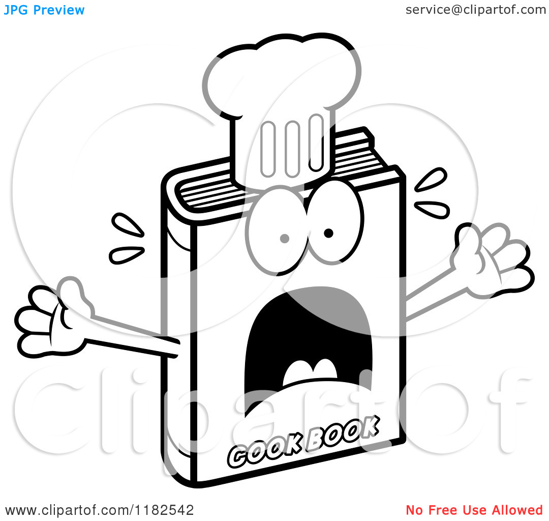 Woman Cooking Clipart Black And White Cartoon Of A Black And White