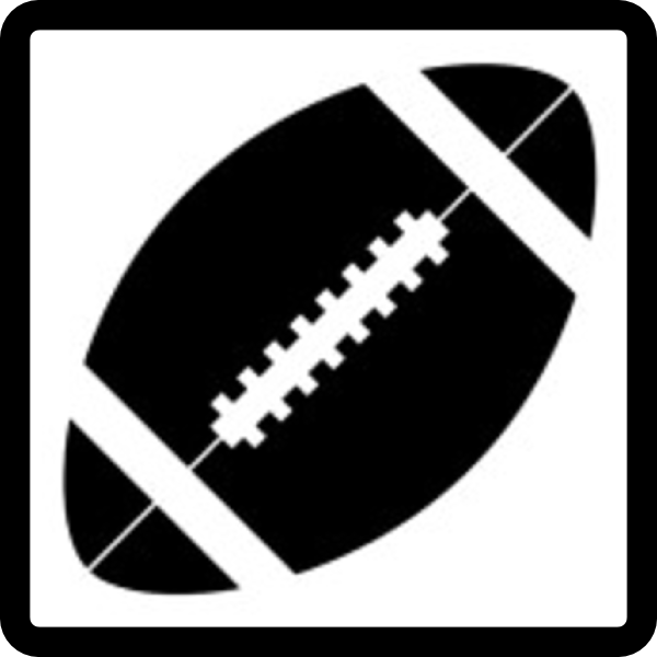 American Football Vector Black And White American Football Hi Png
