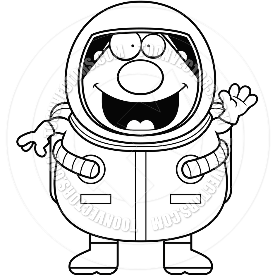 astronaut clip art black and white - photo #8