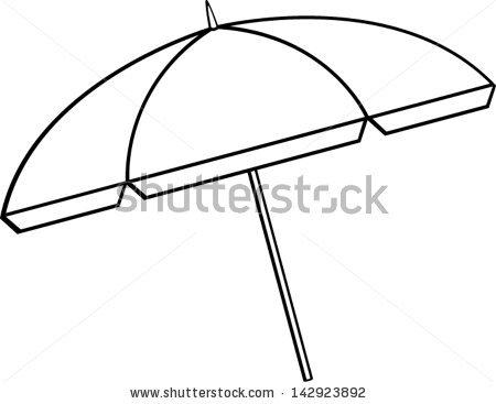Clip Art Beach Umbrella Clipart beach umbrella clipart kid black and white panda free clipart