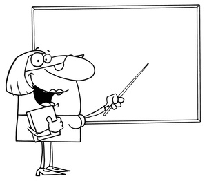 Clip Art Teacher Clipart Black And White teacher black and white clipart kid female pointing to a whiteboard 0521 1005 1515