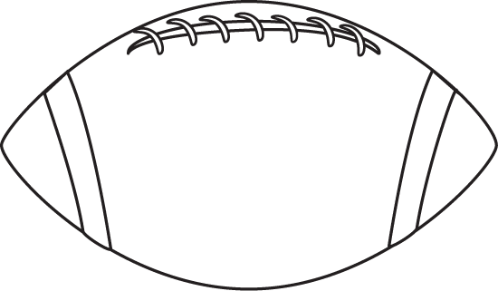 Black And White Football Clip Art Image   White Black And White