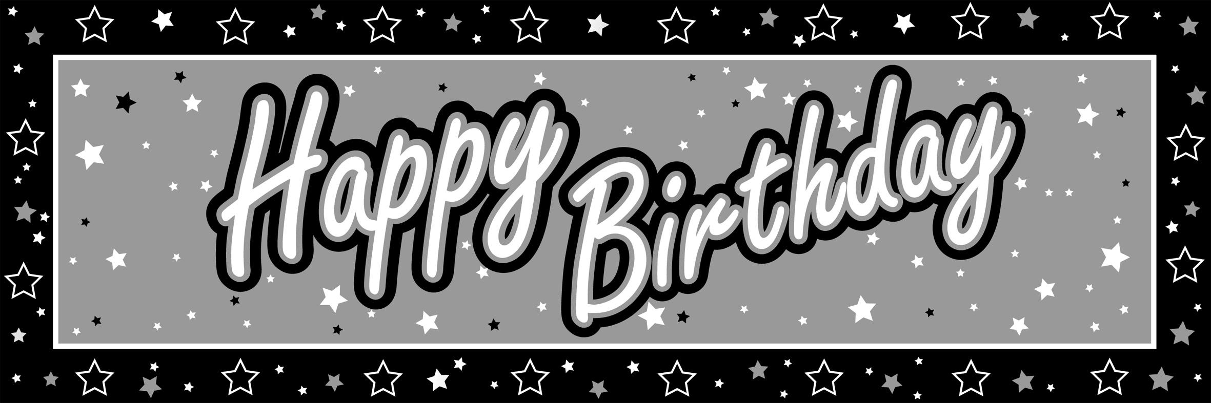 Birthday Black And White Clipart - Clipart Kid