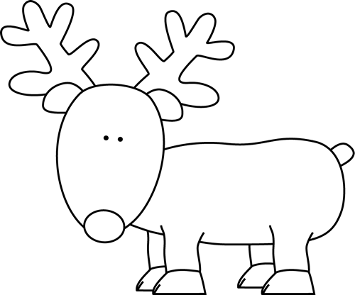 Clip Art Reindeer Clipart Black And White reindeer black and white clipart kid clip art image