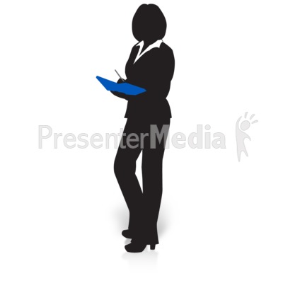 Businesswoman Silhouette Book   Presentation Clipart   Great Clipart