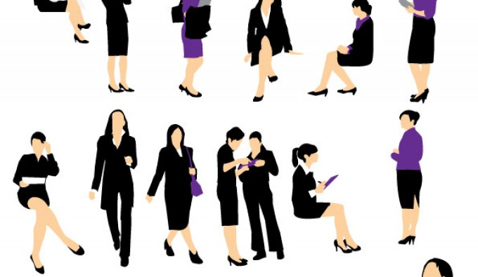 Businesswoman Silhouette Clipart   Free Clip Art Images