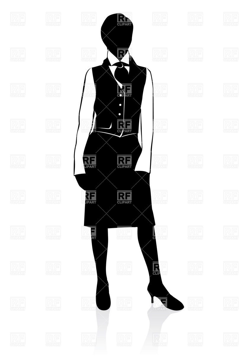 Businesswoman Silhouette Download Royalty Free Vector Clipart  Eps