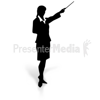 Businesswoman Silhouette Point   Education And School   Great Clipart