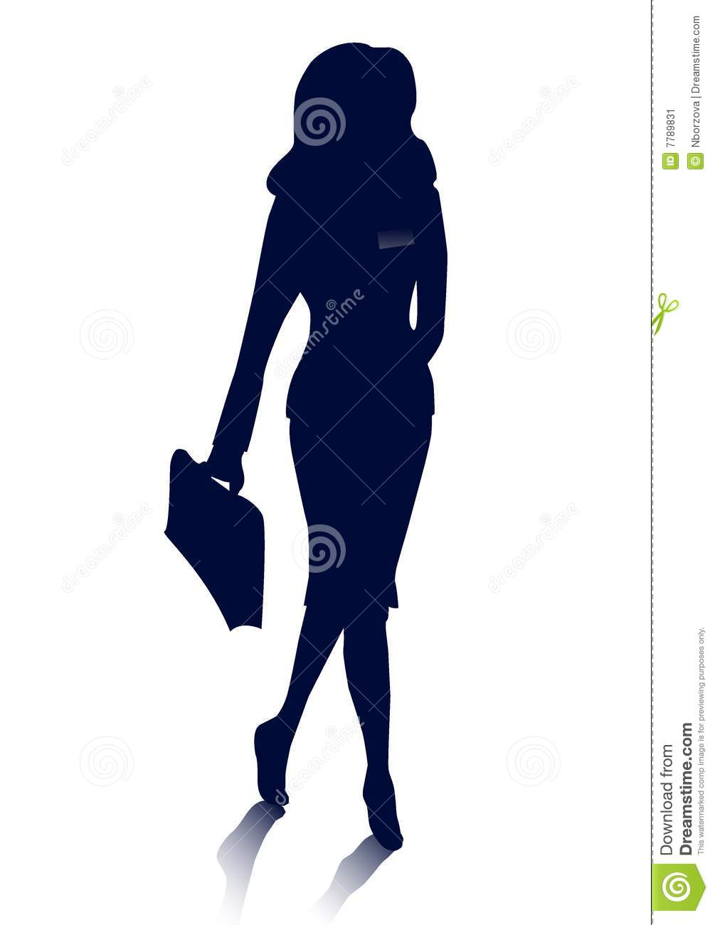 Businesswoman Silhouette Stock Image   Image  7789831