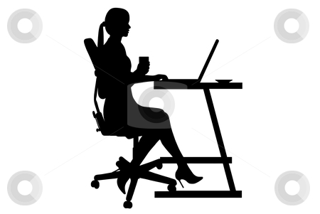 Businesswoman Silhouette Stock Vector Clipart Businesswoman