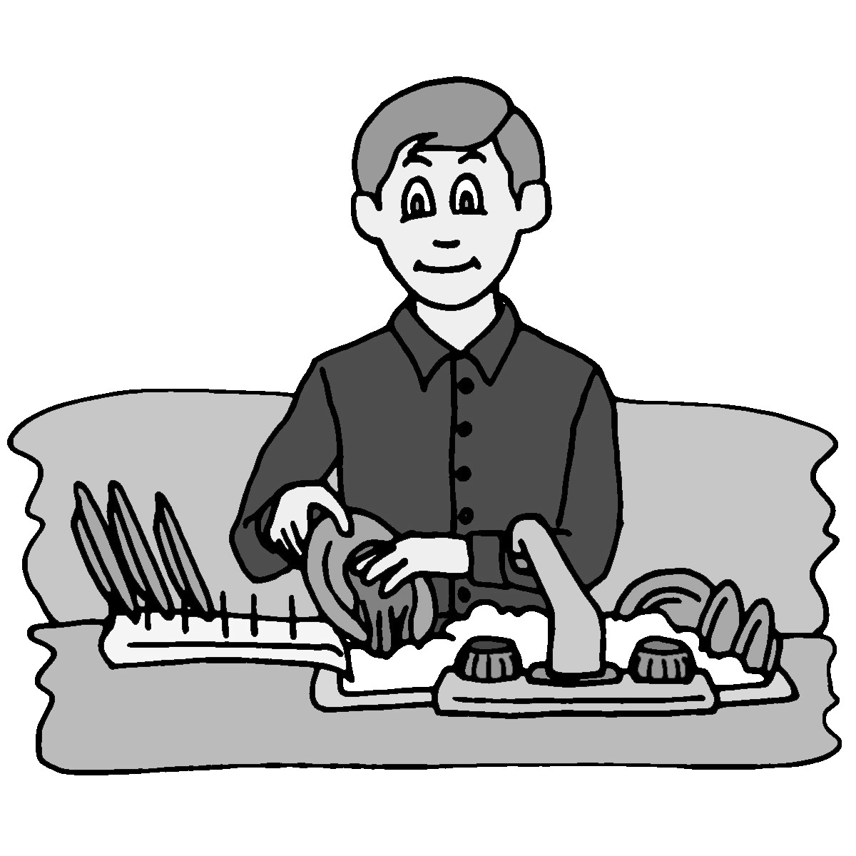 Cleaning Clipart Black And White Raking Leaves Clipart Black