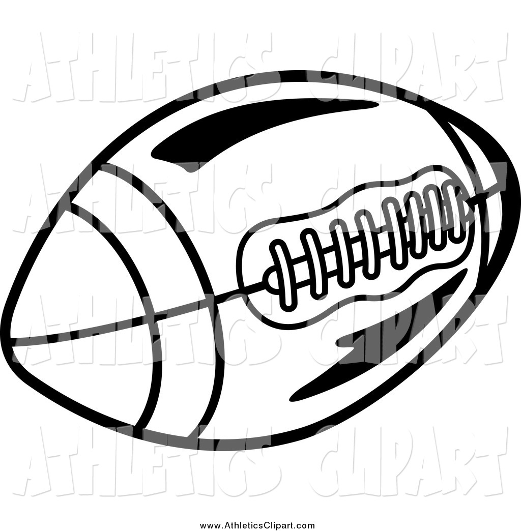 Clip Art Of A Black And White Football By Seamartini Graphics 11751