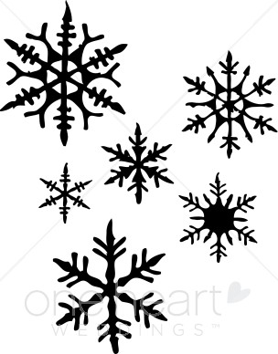 Clip Art Snow Flakes - Synkee