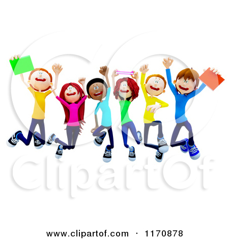 College Clip Art 1170878 Clipart Of A Group Of 3d College Students