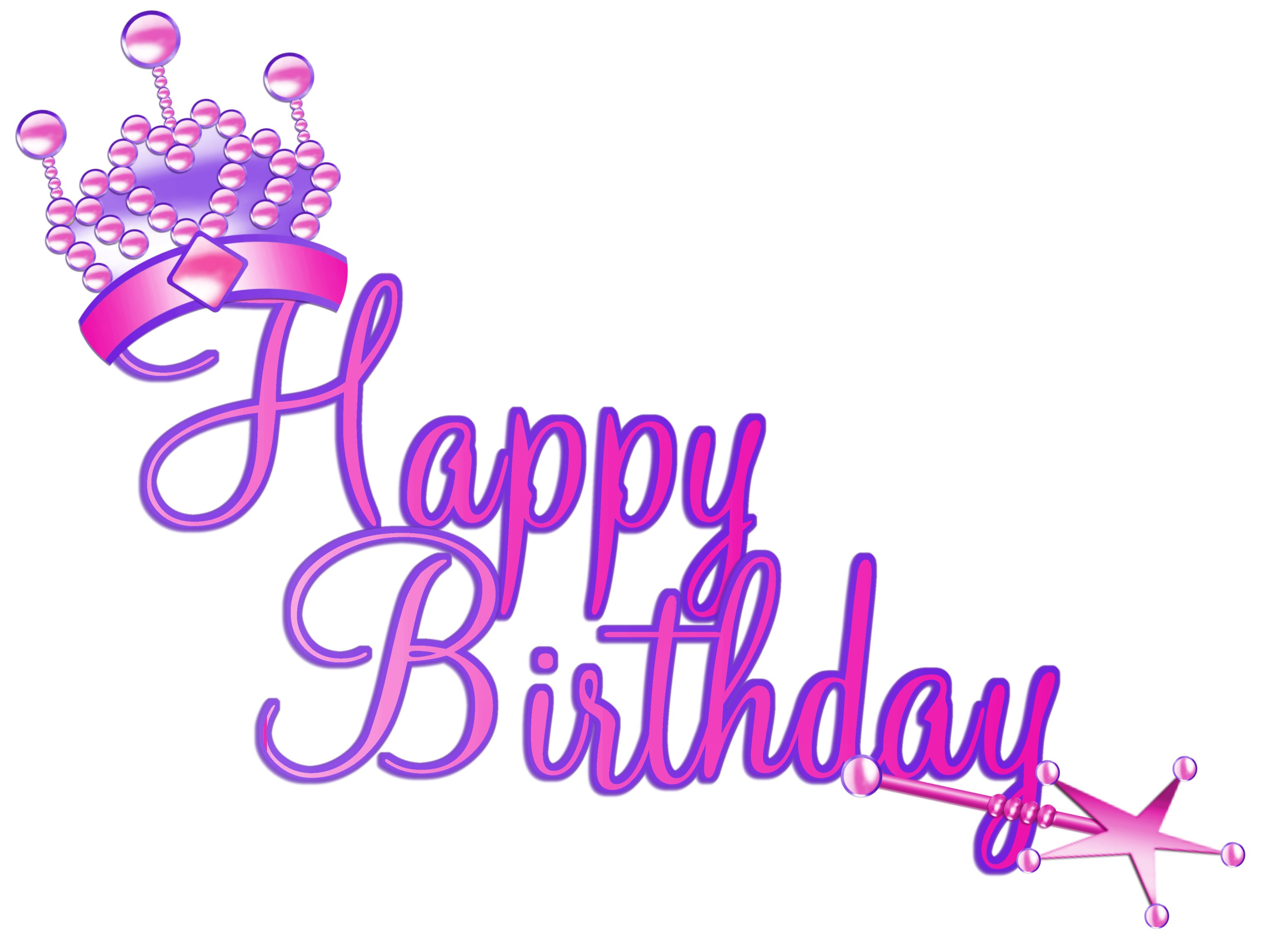 Princess Birthday Clipart - Clipart Kid