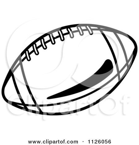 Football Clipart Black And White 1126056 Clipart Of A Black And White