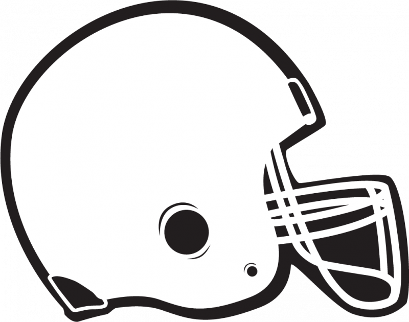 Clip Art Black And White Football Clipart - Clipart Kid
