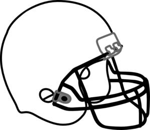 Football Helmet White Black Clip Art At Clker Com   Vector Clip Art