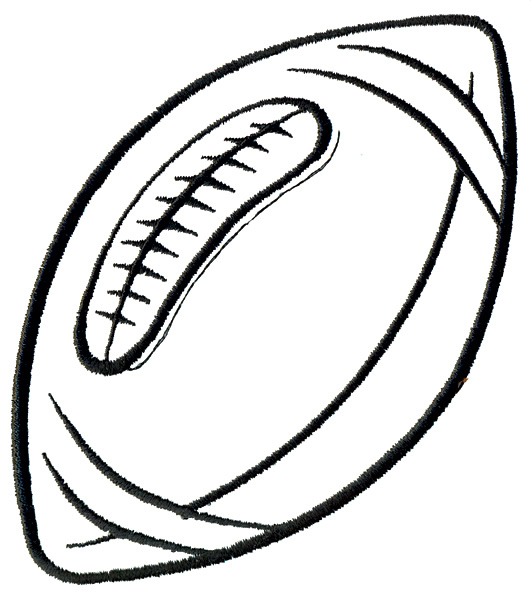 Football Laces Clipart Black And White Football Laces Outline