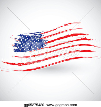 Grungy American Flag Background  Vector Clipart Gg65275420   Gograph