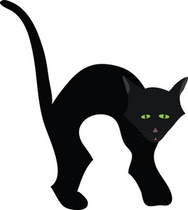 Halloween Clipart Clip Art Silhouette Of A Black Cat With Its Back