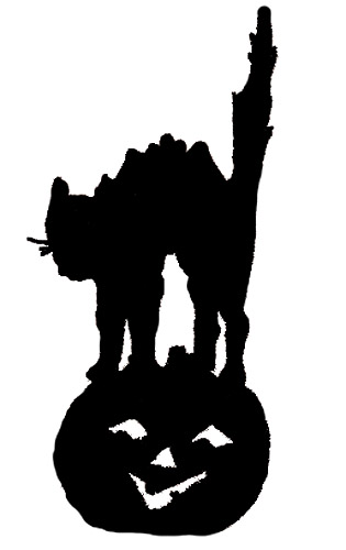 Halloween Witch Illustrations    Halloween Cat Silhouette Clip Art