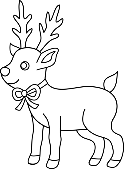Clip Art Reindeer Clipart Black And White reindeer black and white clipart kid panda free images