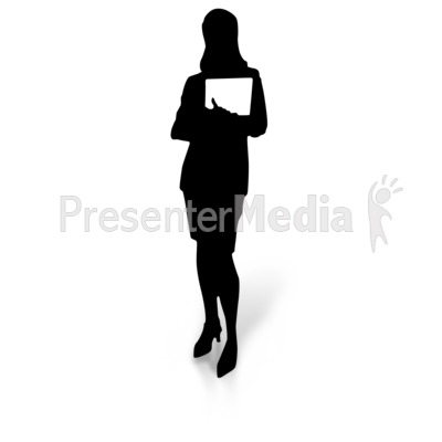 Silhouette Holding Document   Education And School   Great Clipart