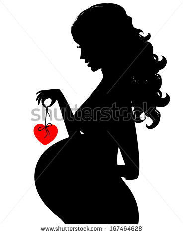 Silhouette Of A Pregnant Woman Stock Photos Illustrations And Vector