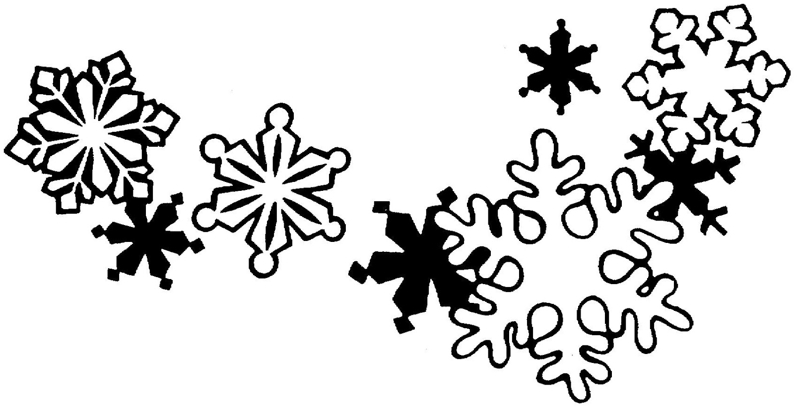 Snowflake Clipart Black And White Ornament Clipart Black And White