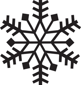Snowflake Clipart Is In Black And White While Some Of The Snowflake