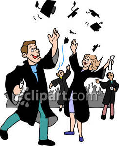 Students Graduating From College   Royalty Free Clipart Picture