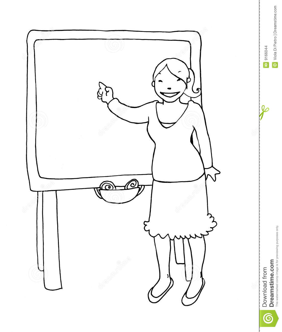 Teacher At The Blackboard Black And White Stock Images   Image