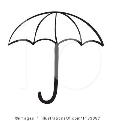 Black And White Umbrella Clipart - Clipart Kid