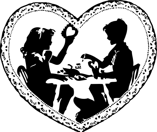 Line Drawing Valentine : Valentine s day black and white clipart suggest