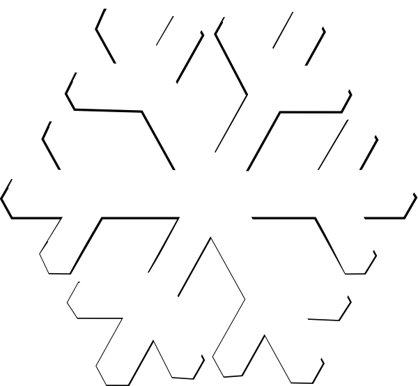 White Snowflake Clipart Png   Clipart Panda   Free Clipart Images