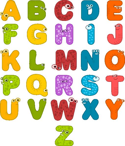 Individual Alphabet Letters Clipart - Clipart Suggest