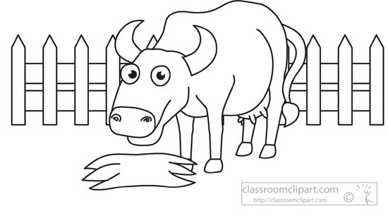 Animals   Farm  Animal Cow Black White Outline 956   Classroom Clipart