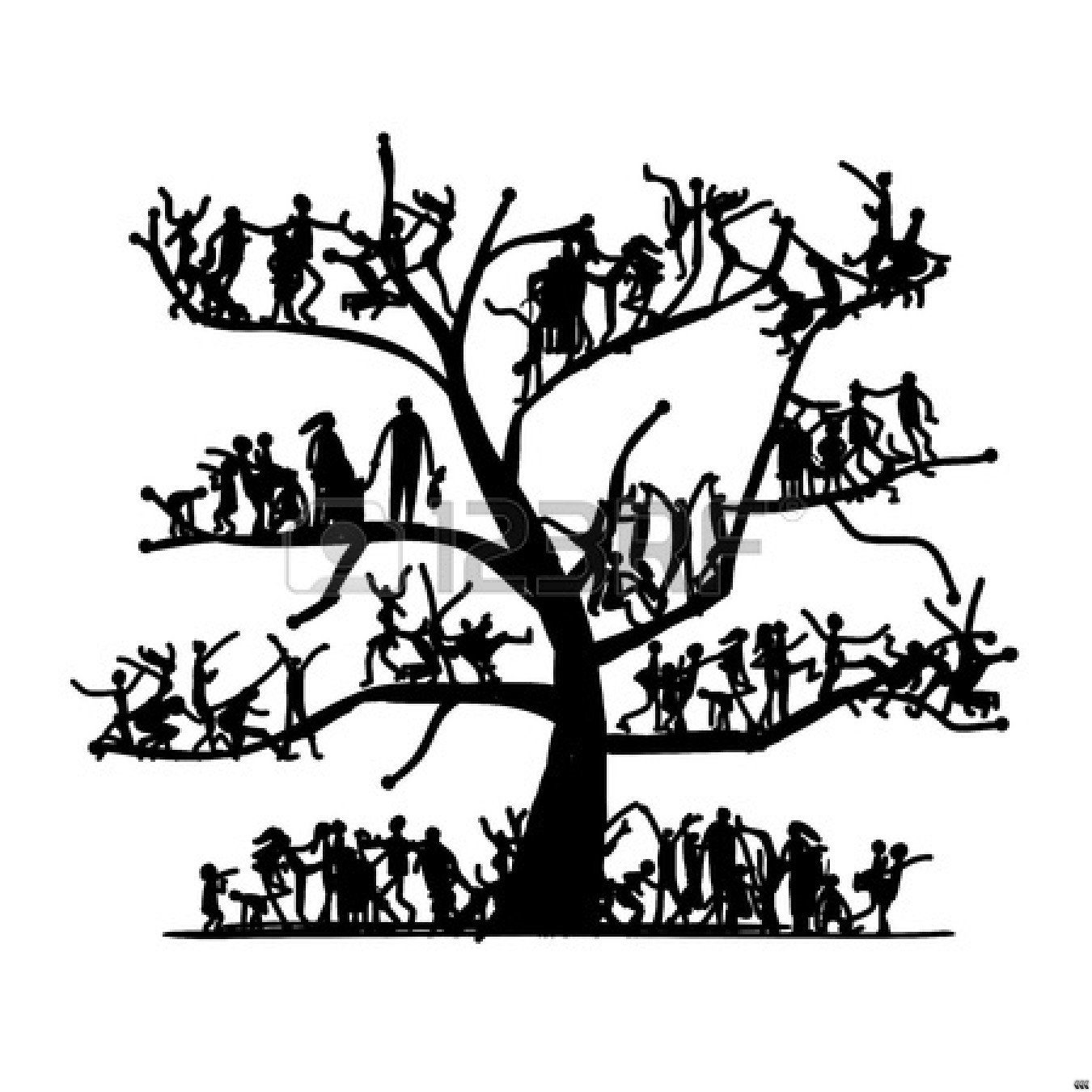 Art Black And White Family Tree Clip Art Black And White Hd Family