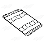 Clip Art Black And White Rug Cliparts