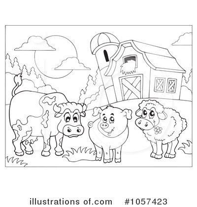 Black And White Farm Clip Art Farm Animals Clip Art Black And White