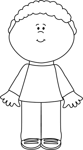Black And White Little Boy Clip Art   Black And White Little Boy Image