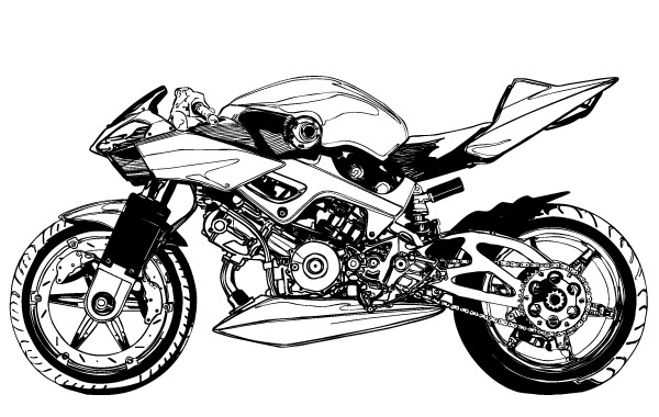 Black And White Motorcycle Vector Clip Arts Free Clip Art