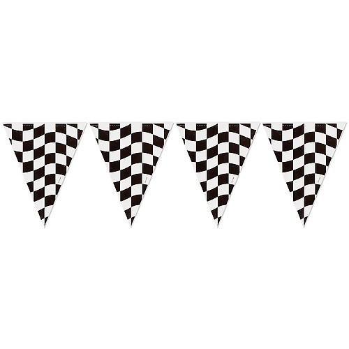 Black Checkered Flag Banner   Party Supplies Ideas Accessories