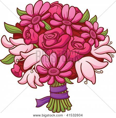 Clip Art Mother's Day Bouquet Of Flowers Clipart - Clipart ...