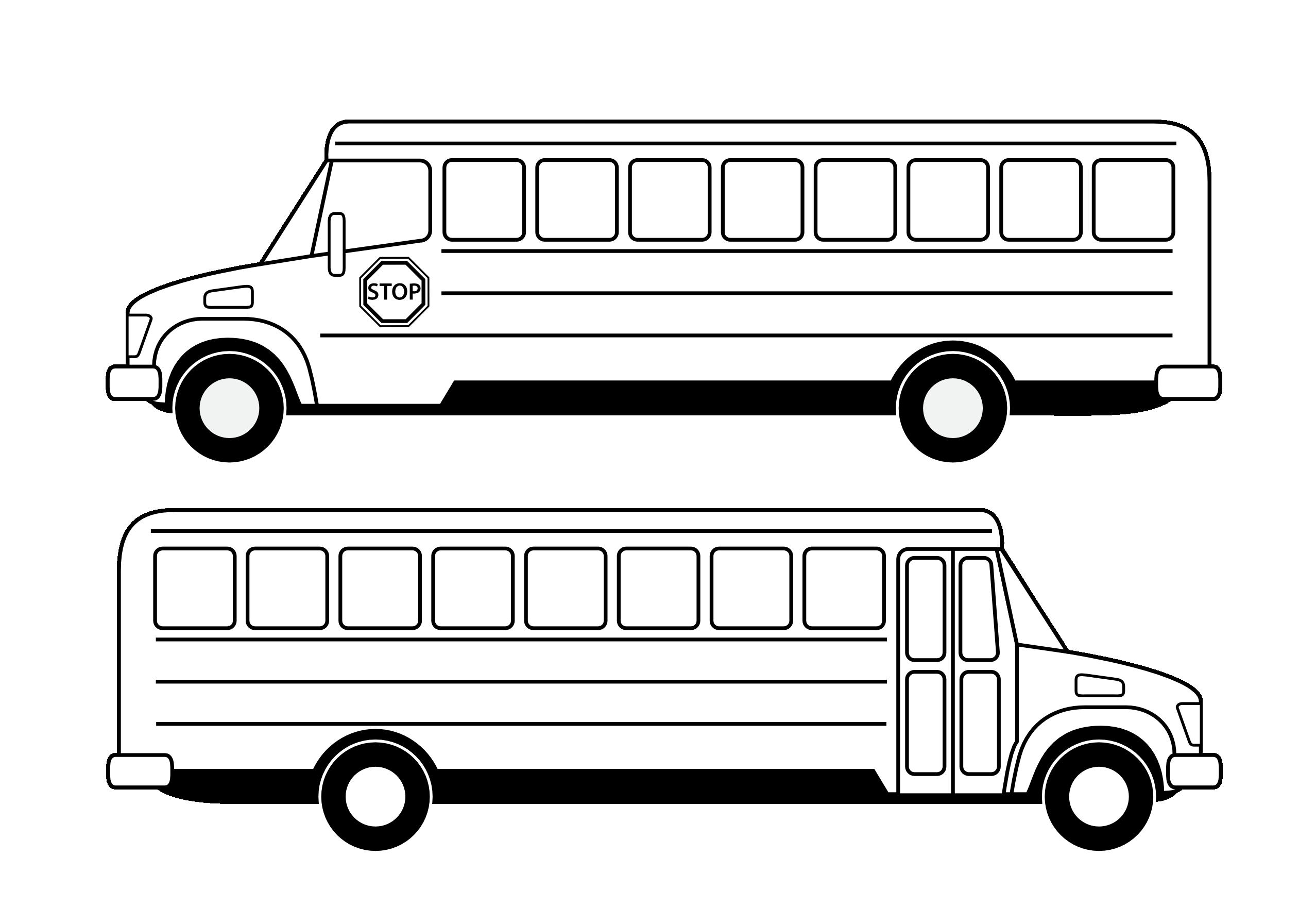 Bus School Outline Clipart - Clipart Kid