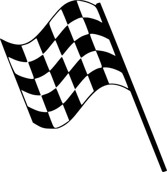Checkered Flag Clip Art At Clker Com   Vector Clip Art Online Royalty