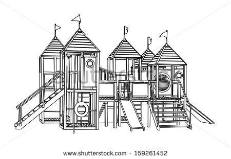Children Playground Clipart Black And White Children Playground